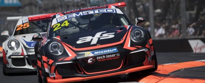 Captured at Round 7 of the Porsche Carrera Cup at the Supercheap Auto Bathurst 1000, Mount Panorama, Bathurst, New South Wales, Australia.